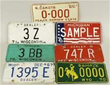 Lot Of Vintage Dealer and Sample License Plates