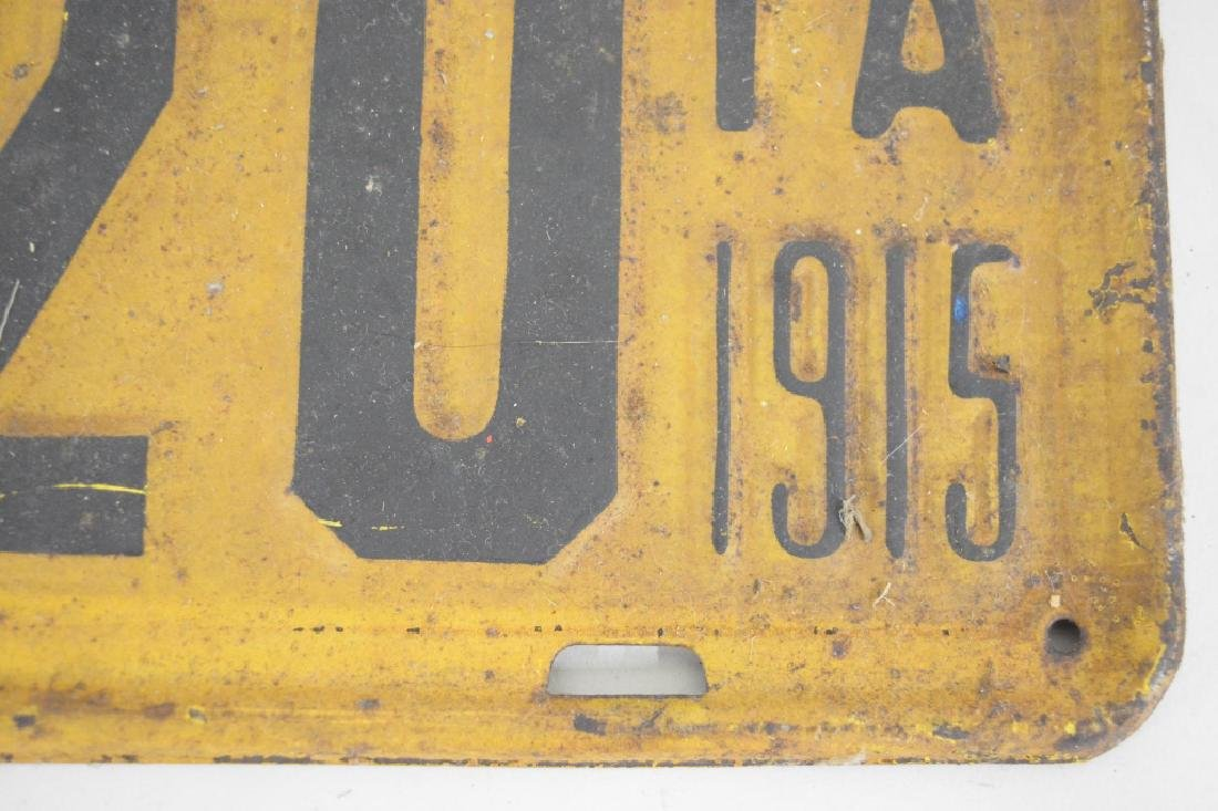 1915 Iowa License Plate Matching Set - 2
