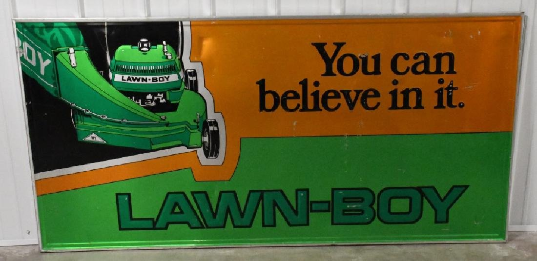 Large SST Embossed Lawn-Boy Advertising Sign
