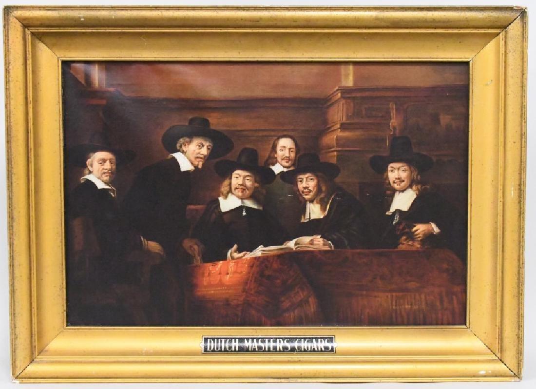 Vintage Dutch Masters Cigars Adv Canvas Sign