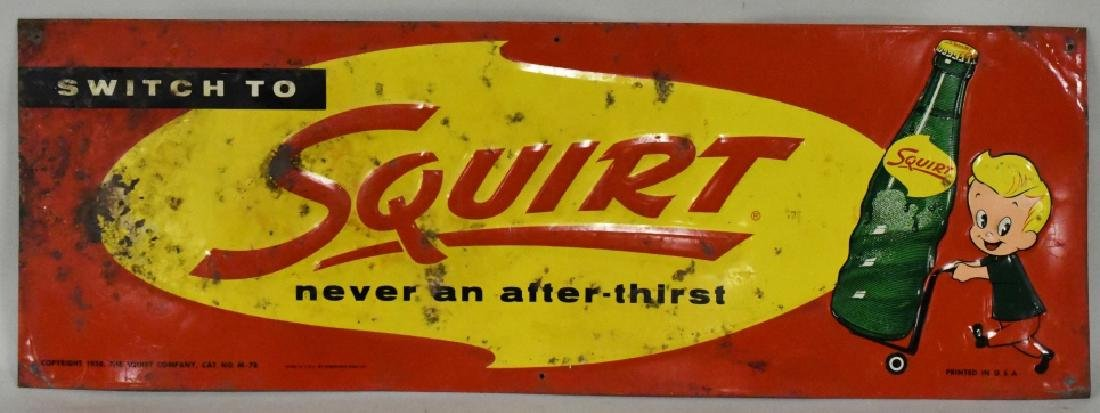 SST Embossed Squirt Advertising Sign