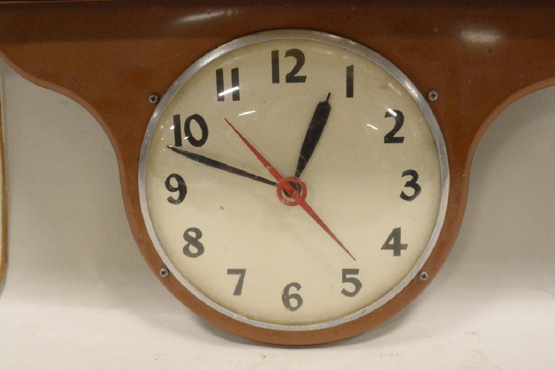 Vtg Kuss Butternut Bread Lighted Advertising Clock - 4