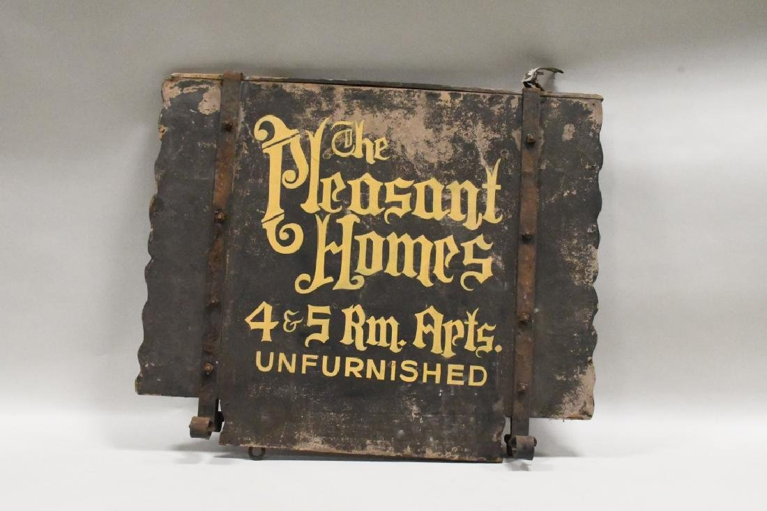 Vtg Pleasant Homes Apartment Advertising Wood Sign - 2