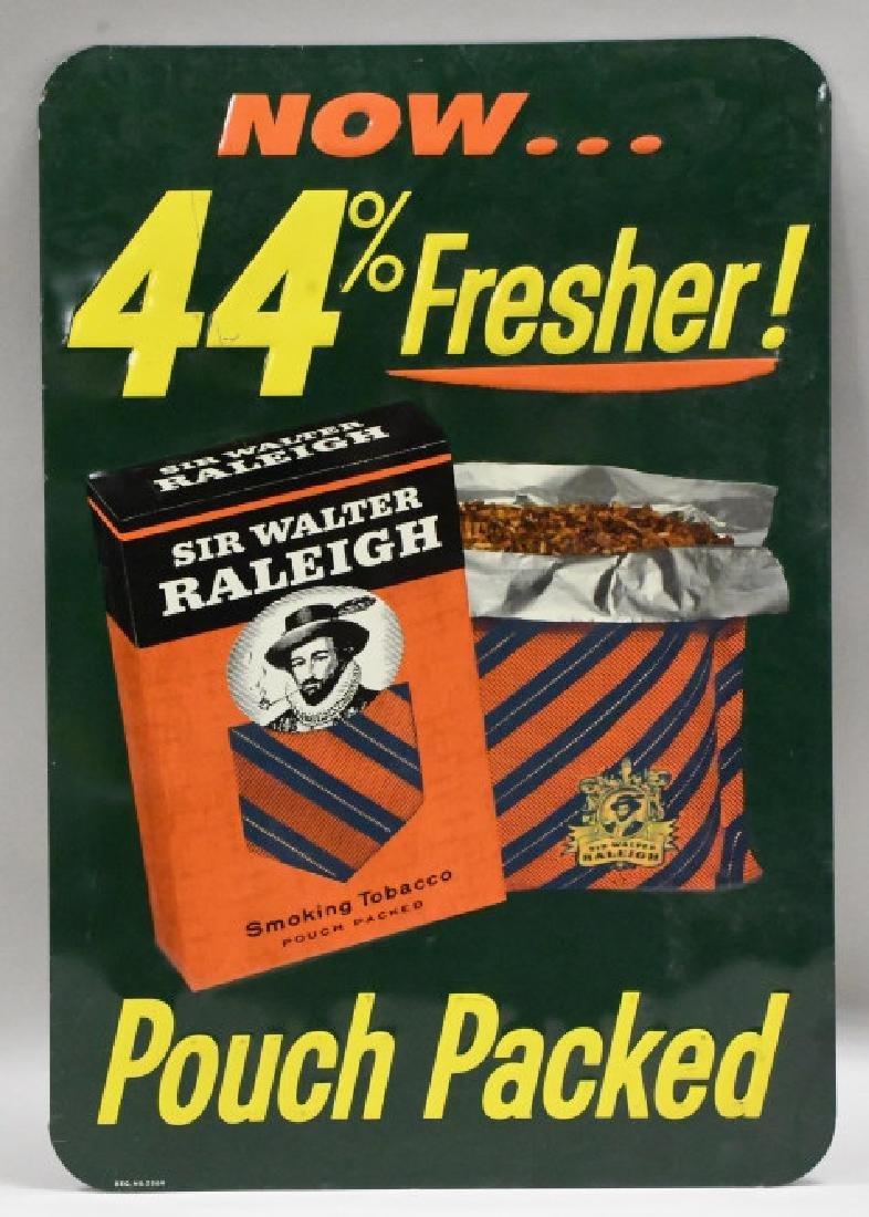 Vtg SST Embossed Sir Walter Raleigh Tobacco Sign