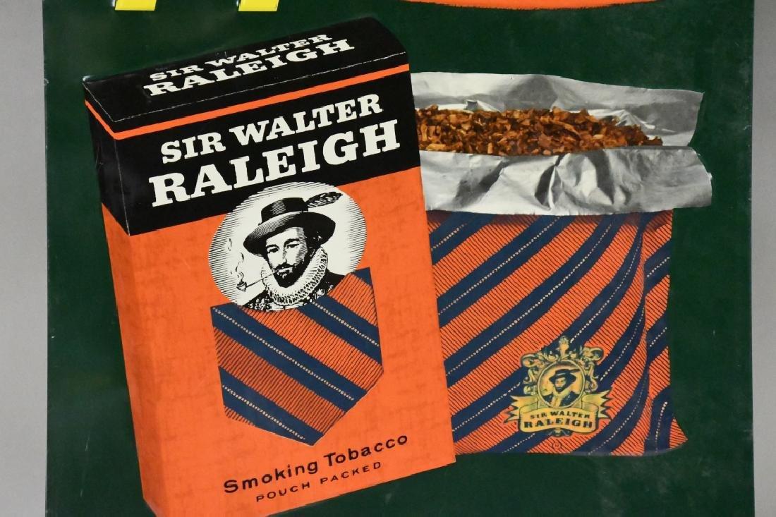 Vtg SST Embossed Sir Walter Raleigh Tobacco Sign - 2