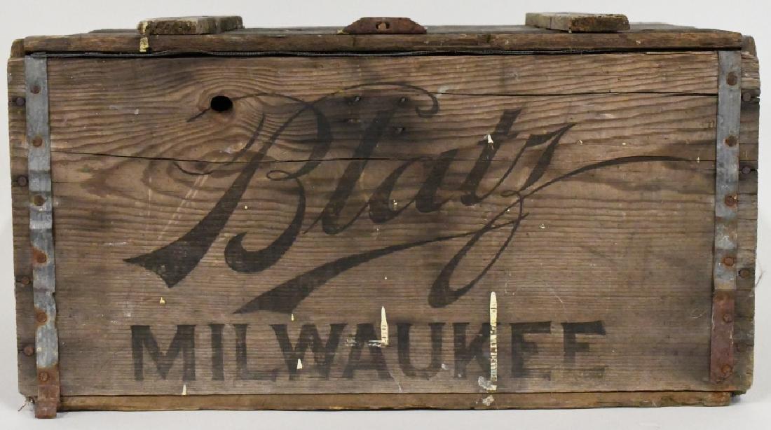 Blatz Beer Advertising Crate