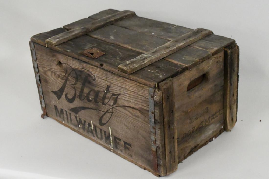 Blatz Beer Advertising Crate - 3