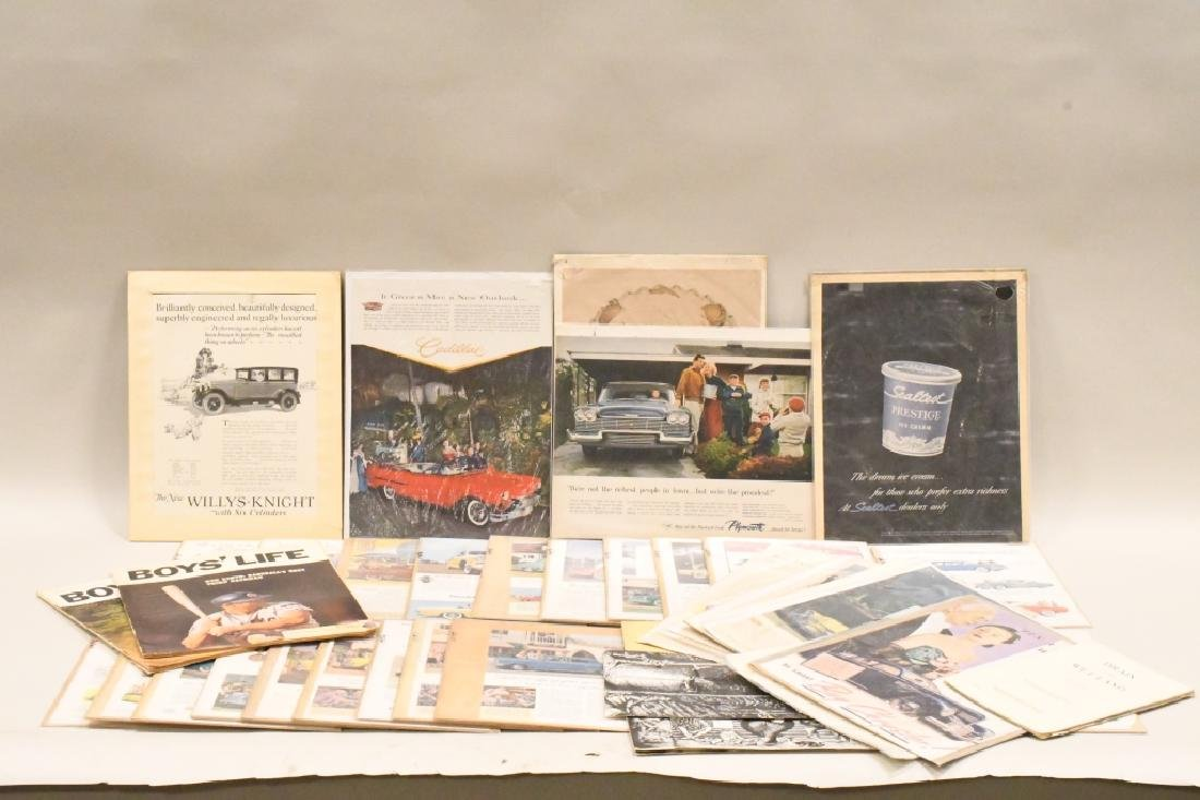 Large Lot Of Vintage Car Advertisements