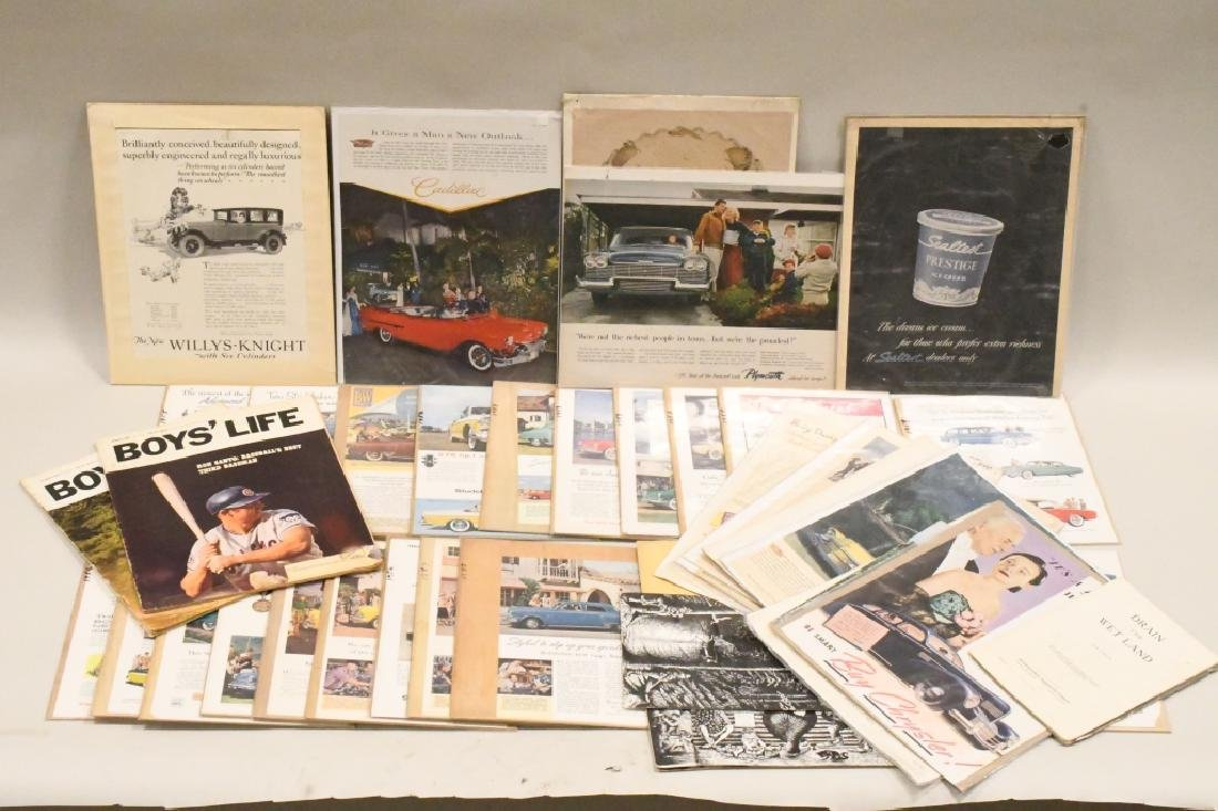 Large Lot Of Vintage Car Advertisements - 2