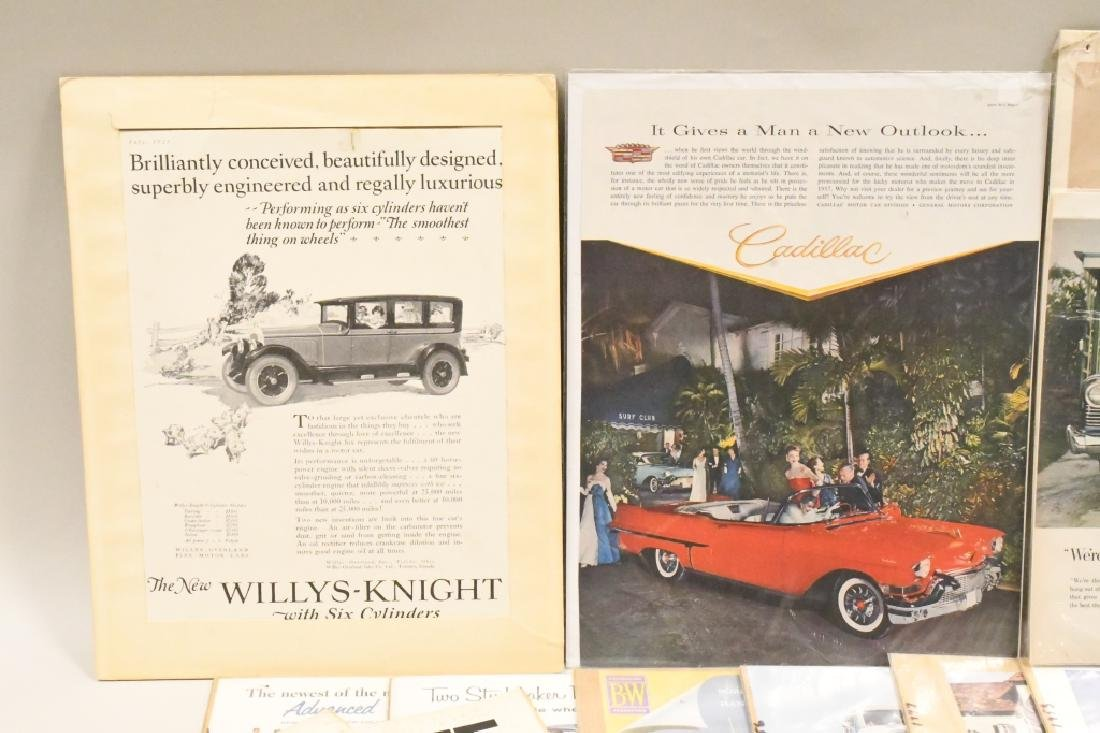 Large Lot Of Vintage Car Advertisements - 3