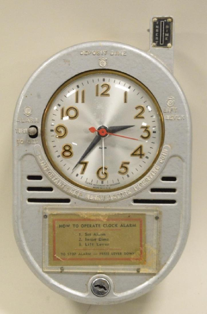 Coin Operated Chain Driven Hotel Alarm Clock