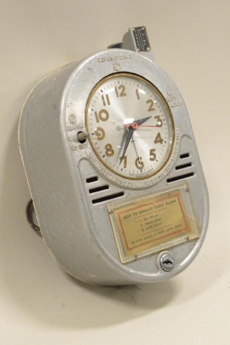 Coin Operated Chain Driven Hotel Alarm Clock - 4