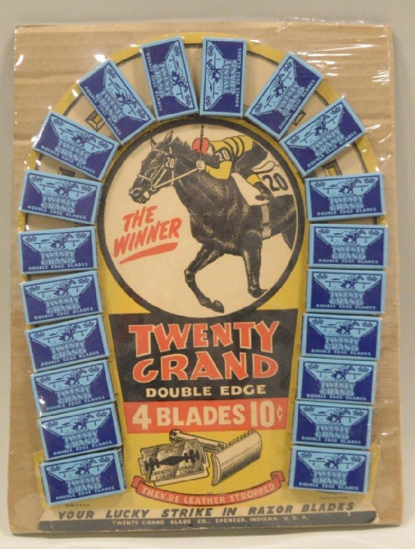 Twenty Grand Razor blade Store Display Horseshoe