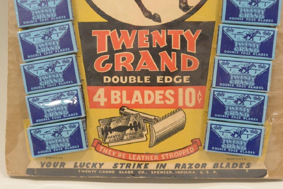 Twenty Grand Razor blade Store Display Horseshoe - 2
