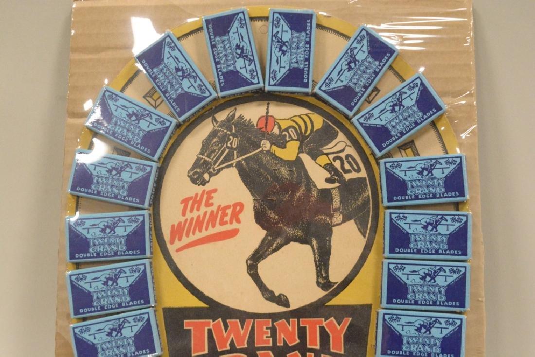 Twenty Grand Razor blade Store Display Horseshoe - 3
