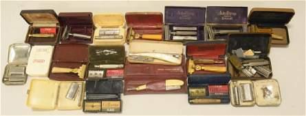 Lot of Vintage Razor Blades in Cases