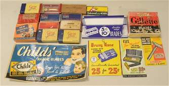 Lot of vintage Razors blades advertising signs