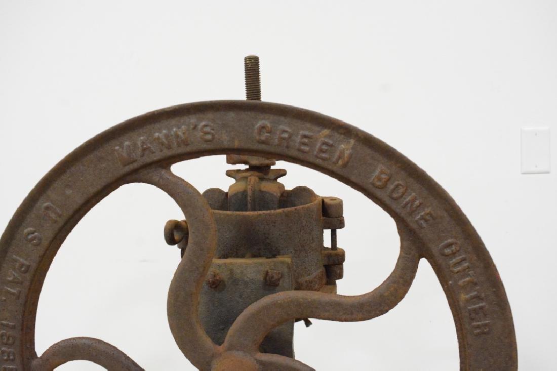 Antique Mann's Green Bone Cutter - 4
