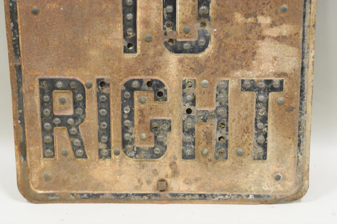 Vintage Cat Eyey Street Sign - 3