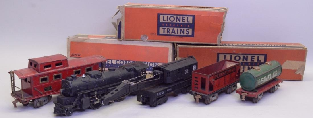 Mixed Lot Of Train Cars w/ Lionel 2026 Loco