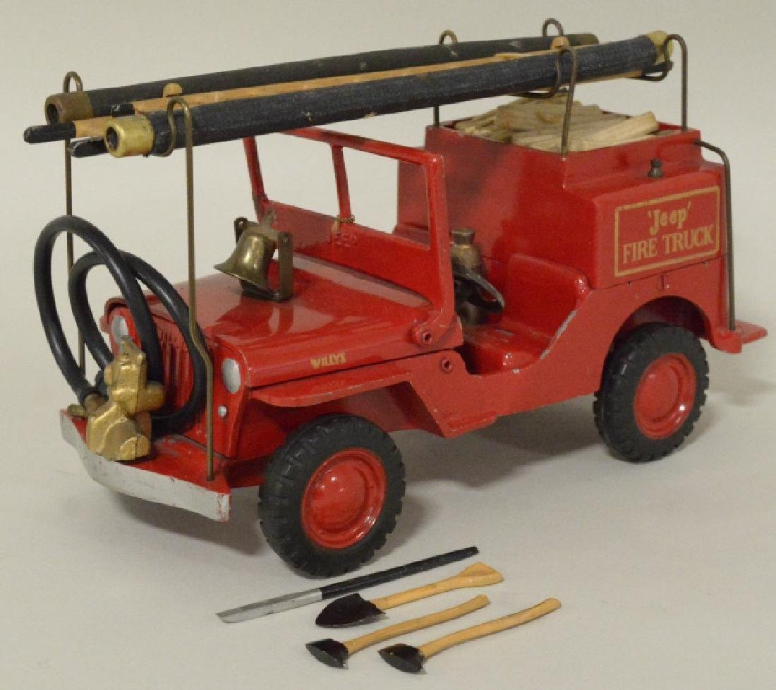 Al-Toy Die Cast  Willys Jeep Fire Truck