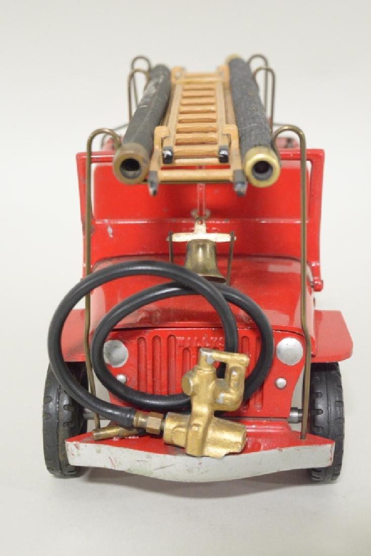 Al-Toy Die Cast  Willys Jeep Fire Truck - 2
