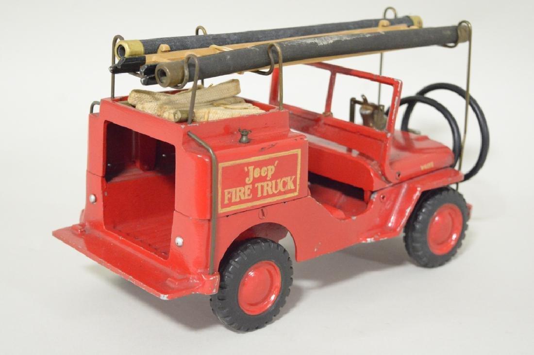 Al-Toy Die Cast  Willys Jeep Fire Truck - 4