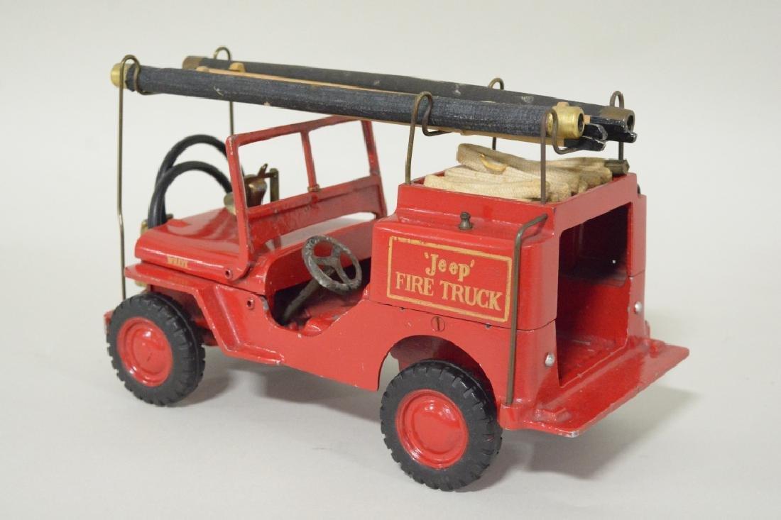 Al-Toy Die Cast  Willys Jeep Fire Truck - 5