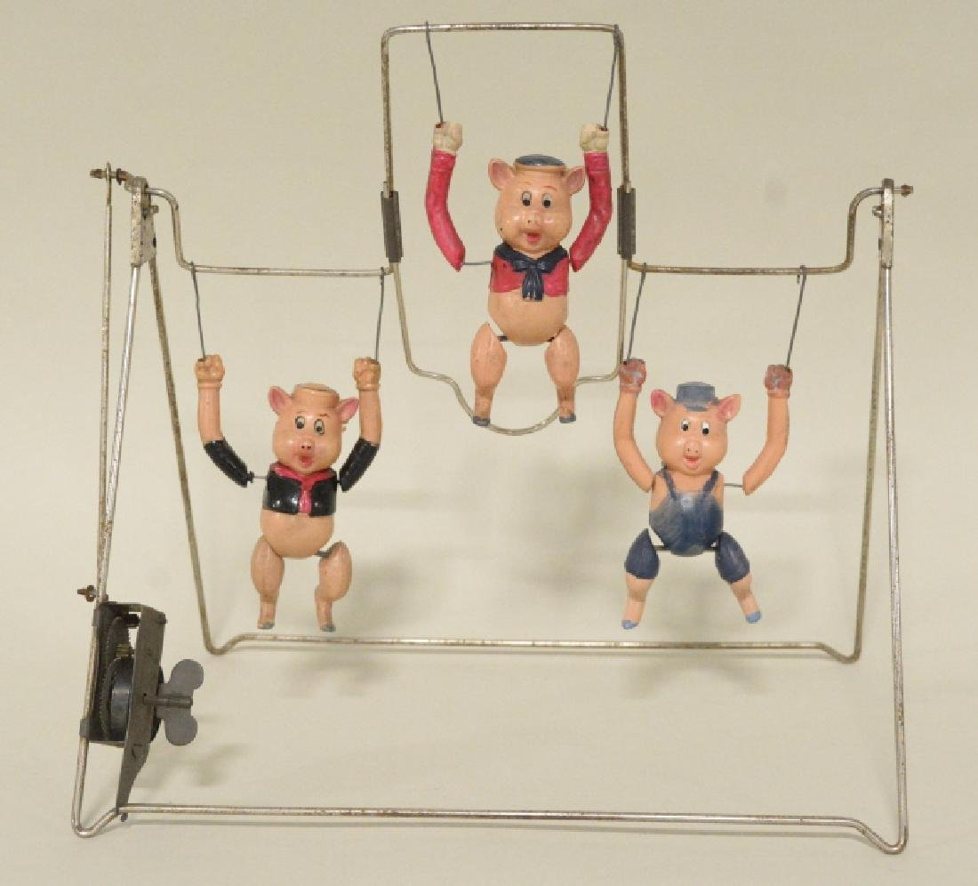 T Toys Celluloid Walt Disney's Three Pigs Trapeze