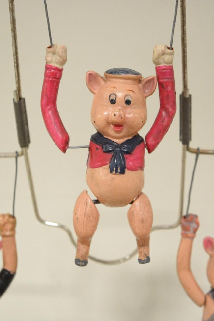 T Toys Celluloid Walt Disney's Three Pigs Trapeze - 2