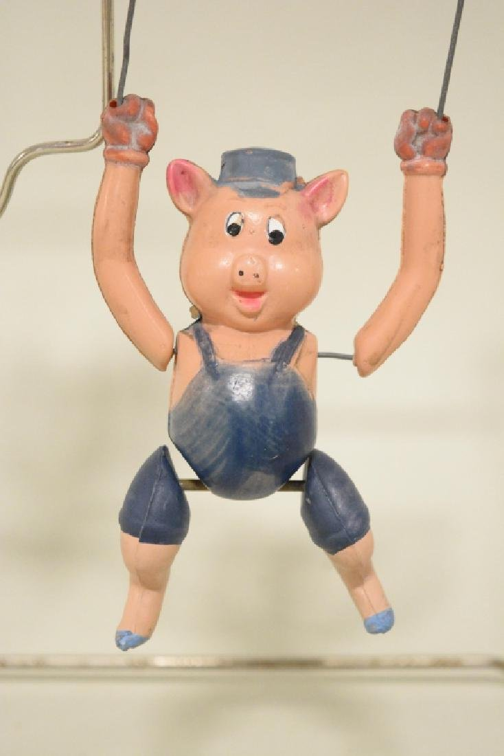 T Toys Celluloid Walt Disney's Three Pigs Trapeze - 3