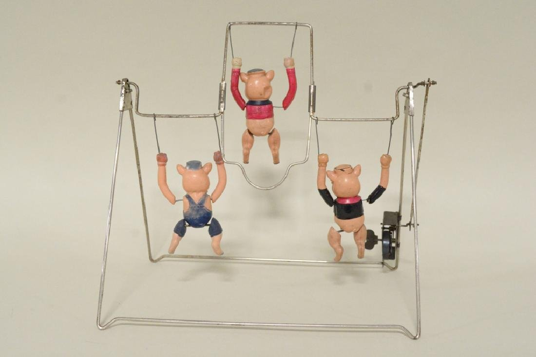 T Toys Celluloid Walt Disney's Three Pigs Trapeze - 5