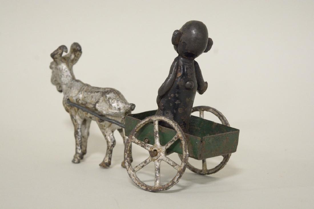 Kenton Cast Iron Yellow Kid In Goat Cart - 4
