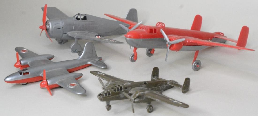 Four Hubley Miltary Airplanes