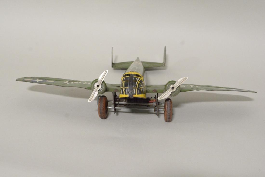 Marx Tin Litho Wind Up Army Airplane No.6 - 2