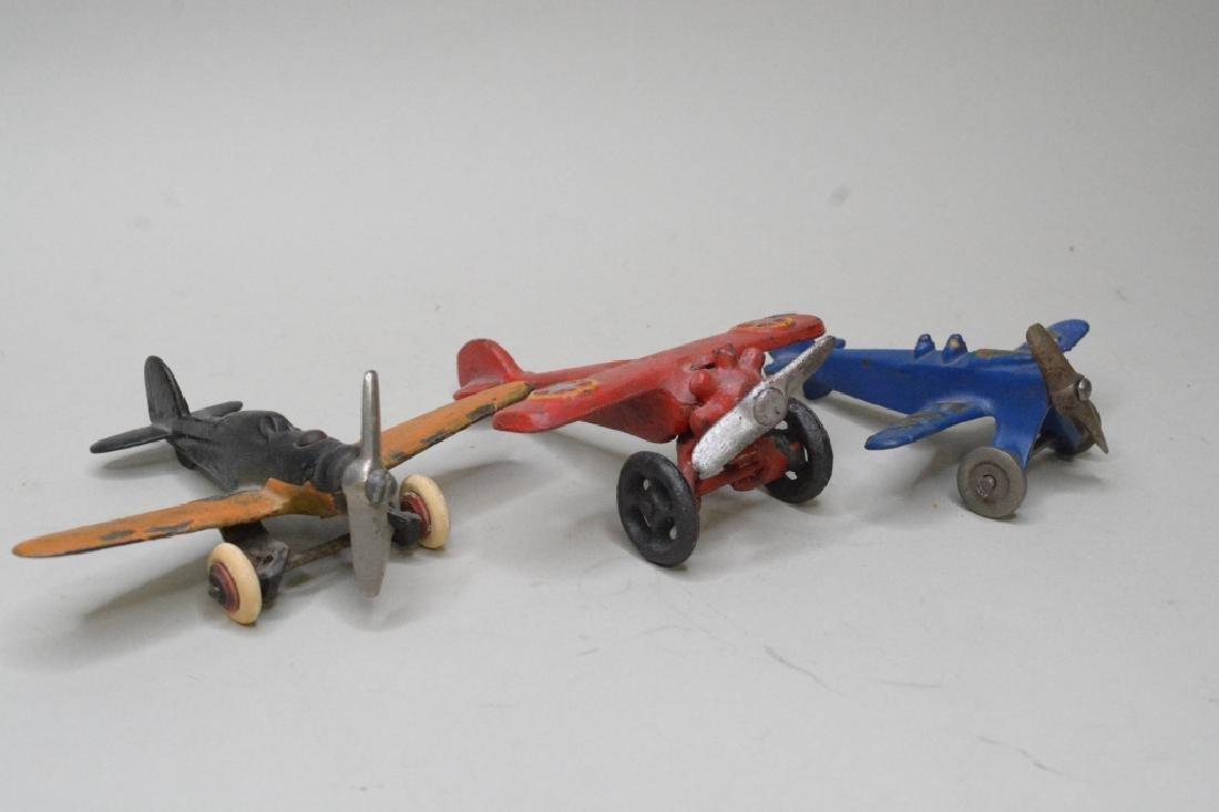 Three Cast Iron Hubley/Arcade? Airplanes - 2