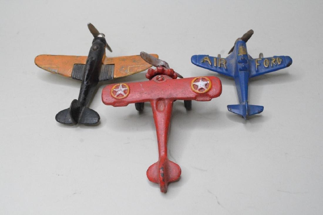 Three Cast Iron Hubley/Arcade? Airplanes - 3
