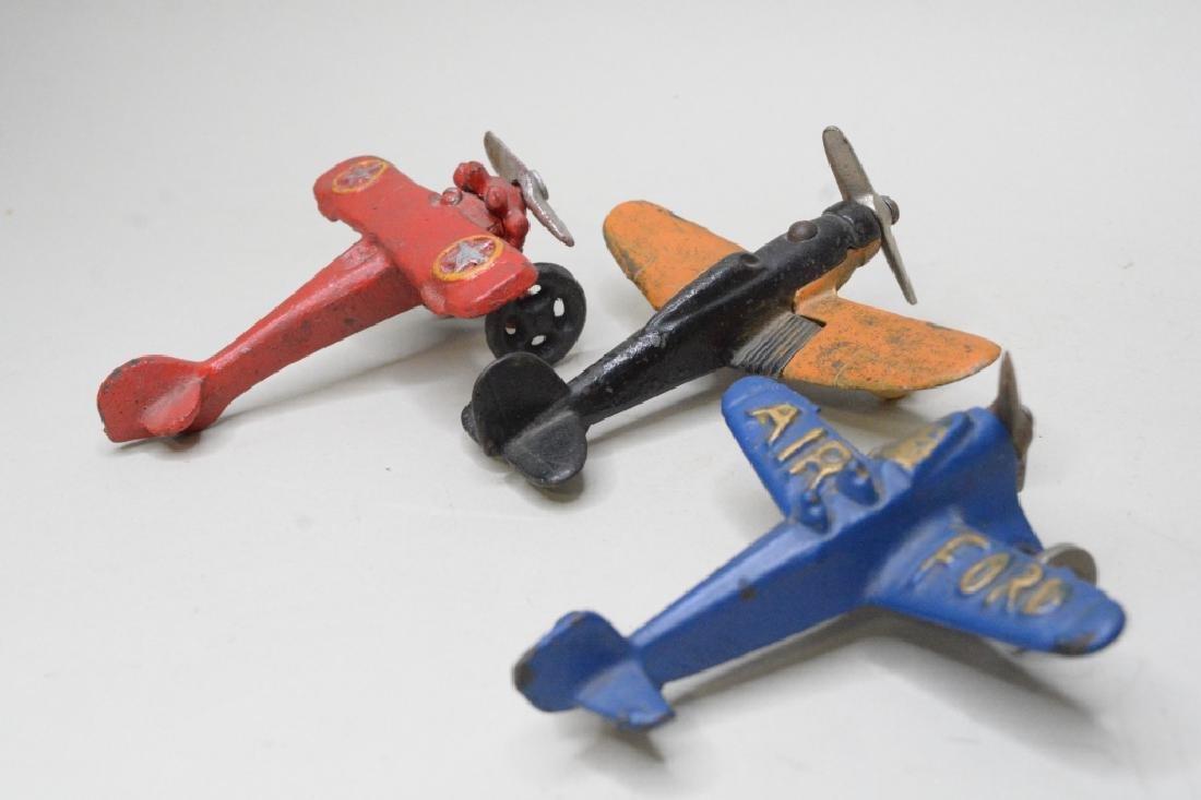 Three Cast Iron Hubley/Arcade? Airplanes - 4