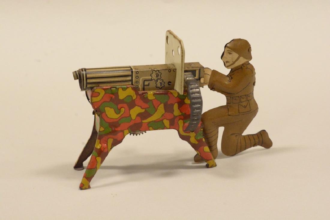 Vintage Tin Litho Marx Sparking Machine Gun In Box - 2