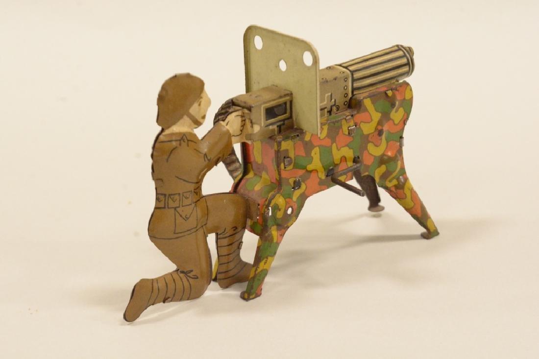Vintage Tin Litho Marx Sparking Machine Gun In Box - 3