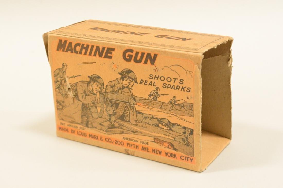 Vintage Tin Litho Marx Sparking Machine Gun In Box - 5