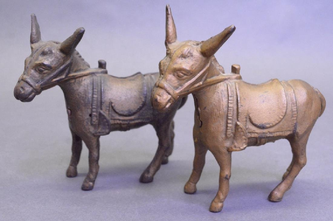 Lot Of 2A.C Williams Cast Iron Small Donkey Bank