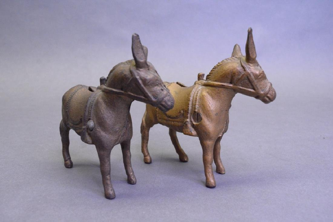 Lot Of 2A.C Williams Cast Iron Small Donkey Bank - 3