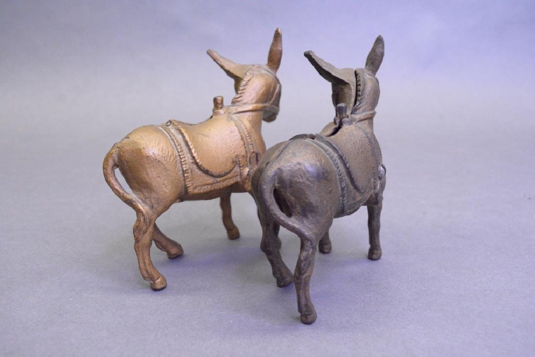 Lot Of 2A.C Williams Cast Iron Small Donkey Bank - 4