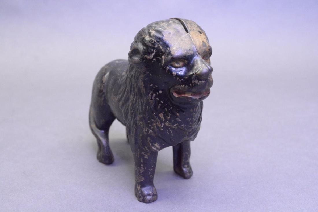 A.C Williams Cast Iron Lion Bank - 2