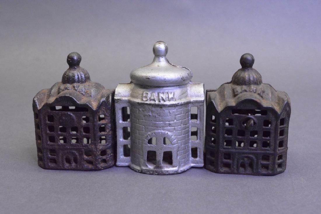 Lot Of Three Cast Iron Banks - 3