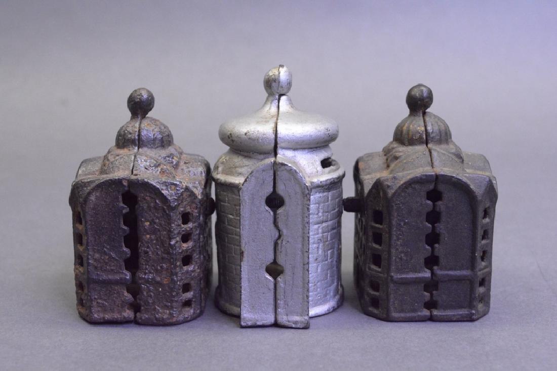 Lot Of Three Cast Iron Banks - 4