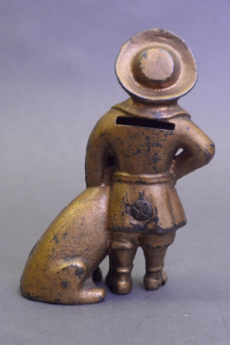 A.C Williams Cast Iron Buster Brown & Tige Bank - 4
