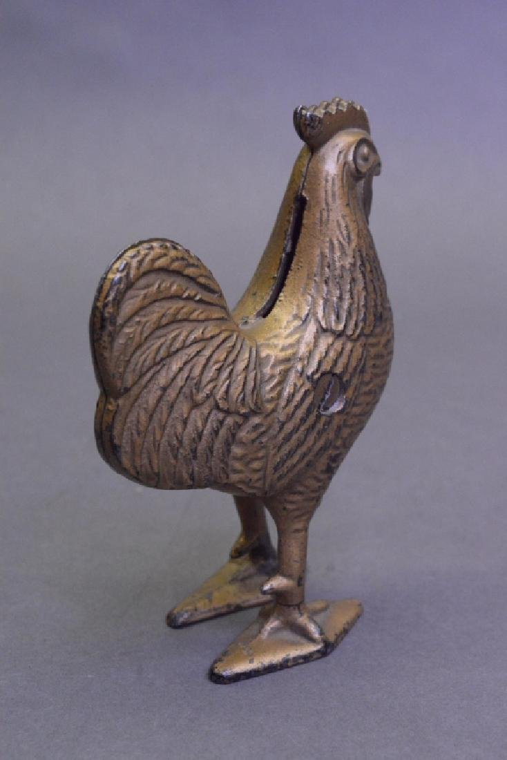 A.C Williams/ Hubley Cast Iron Rooster Bank - 3