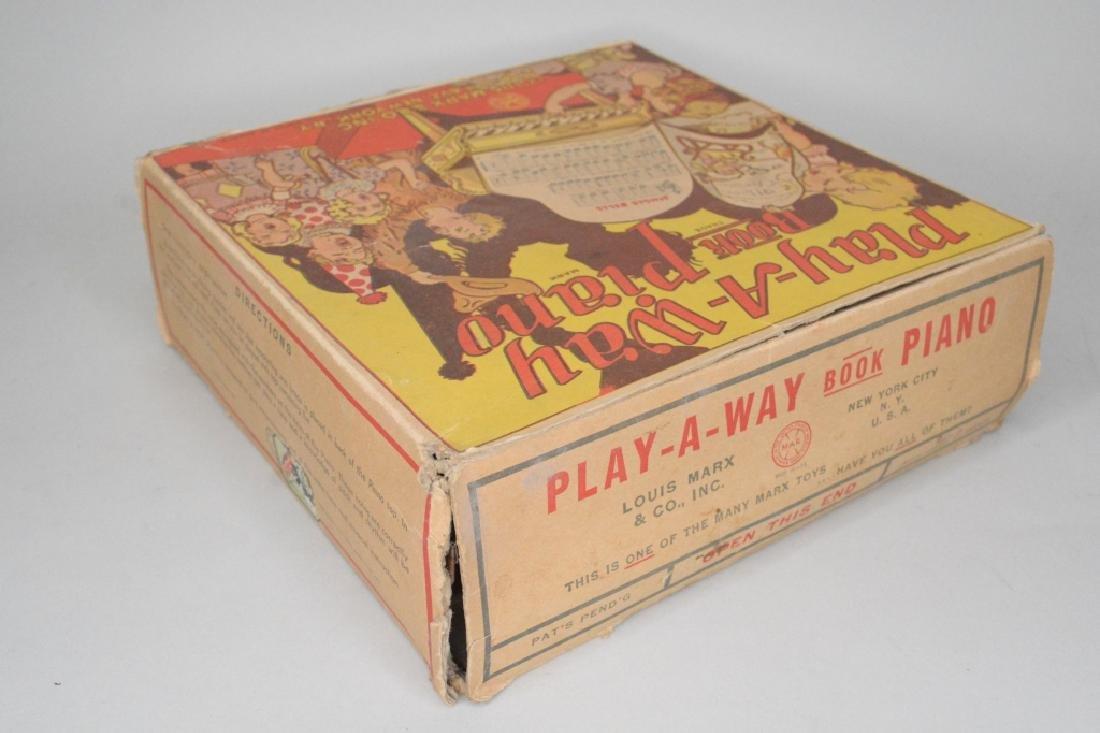 Marx Tin Litho Play-A-Way Book Piano - 4